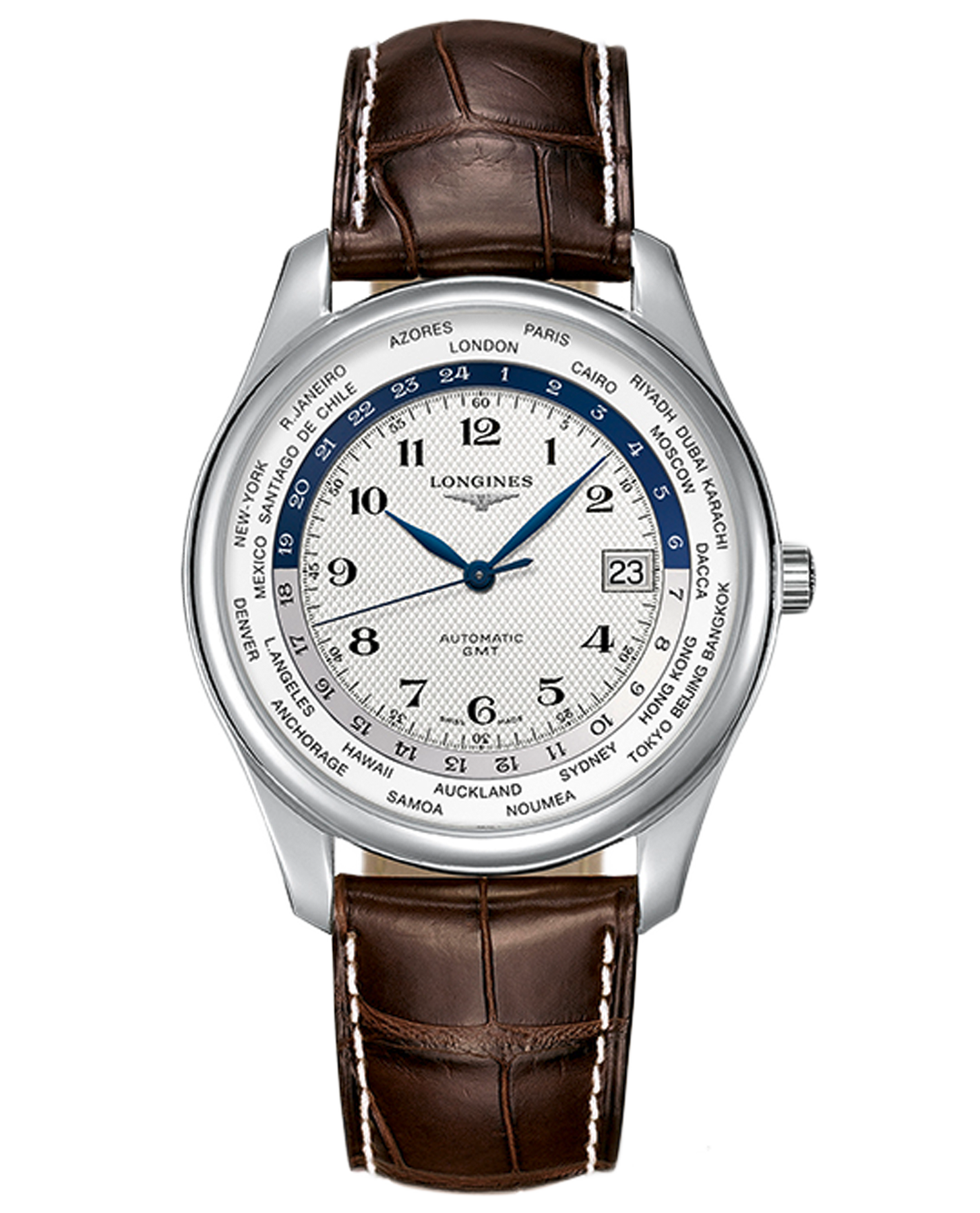 07c8271cdbe Longines The Longines Master Collection GMT - L28024703   Boutique dos  Relógios