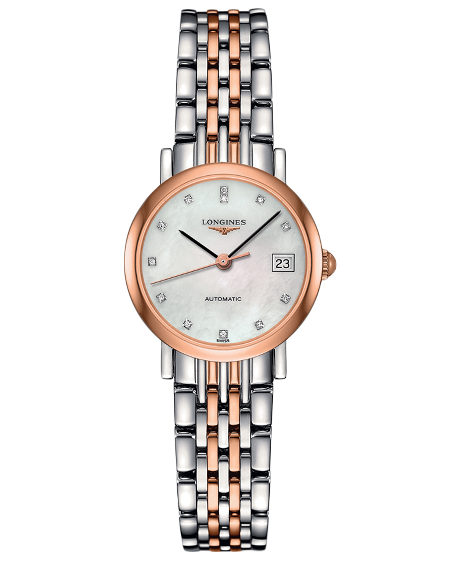 97b05515c54 Longines The Longines Elegant Collection Ouro e Aço - L43095877   Boutique  dos Relógios