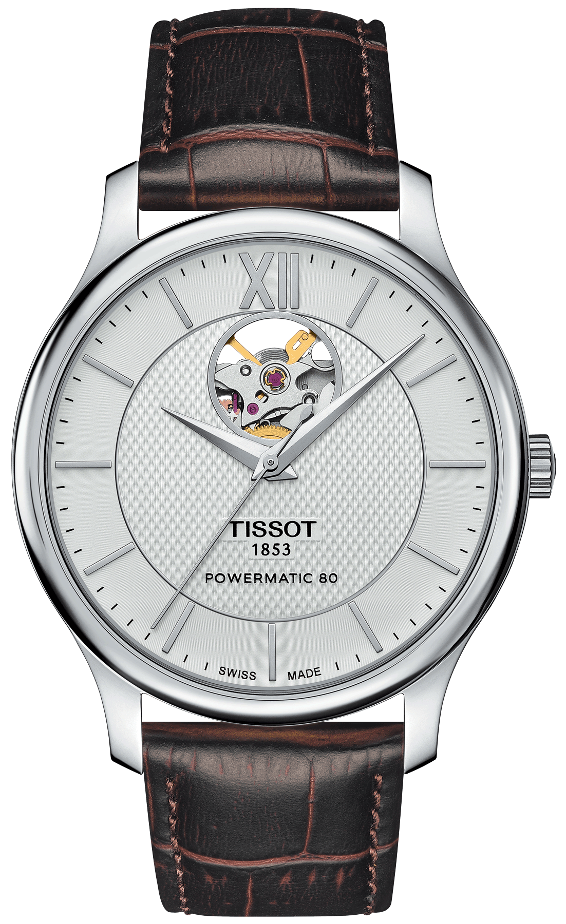 b88d970d988 Tissot TISSOT TRADITION POWERMATIC 80 OP. HEART - T063.907.16.038.00    Boutique dos Relógios